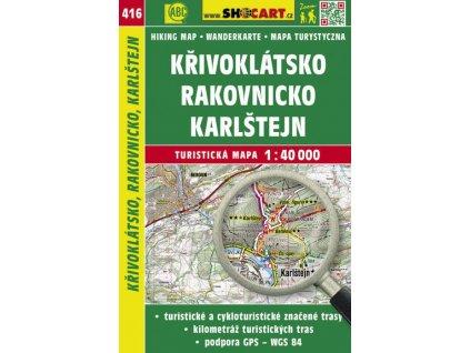 Křivoklátsko, Rakovnicko, Karlštejn - turistická mapa č. 416