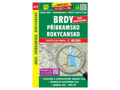 Brdy, Příbramsko, Rokycansko - turistická mapa č. 417