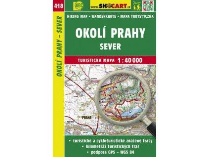 Okolí Prahy - sever - turistická mapa č. 418