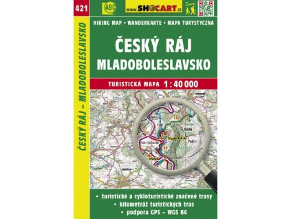 Český ráj, Mladoboleslavsko - turistická mapa č. 421