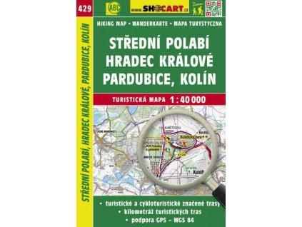 Střední Polabí, Hradec Králové, Pardubice, Kolín - turistická mapa č. 429