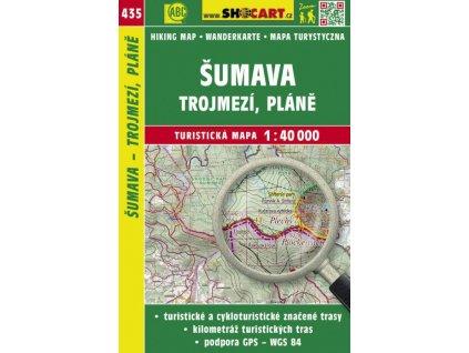 Šumava - Trojmezí, Pláně - turistická mapa č. 435