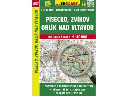 Písecko, Zvíkov, Orlík n. Vltavou - turistická mapa č. 437