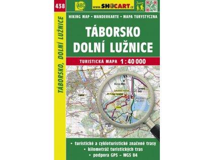 Táborsko, dolní Lužnice - turistická mapa č. 438