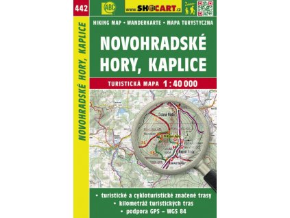 Novohradské hory, Kaplice - turistická mapa č. 442