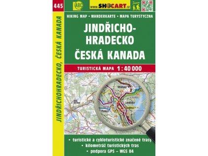 Jindřichohradecko, Česká Kanada - turistická mapa č. 445