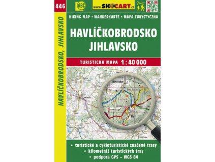 Havlíčkobrodsko, Jihlavsko - turistická mapa č. 446