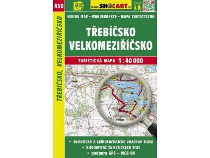 Třebíčsko, Velkomeziříčsko - turistická mapa č. 450