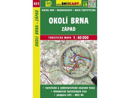 Okolí Brna - západ - turistická mapa č. 451