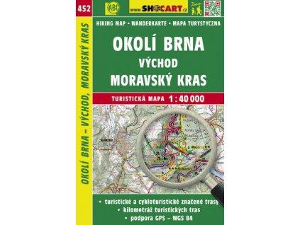 Okolí Brna - východ, Moravský kras - turistická mapa č. 452