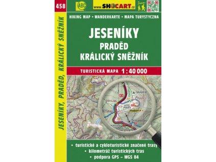 Jeseníky, Praděd, Králický Sněžník - turistická mapa č. 458