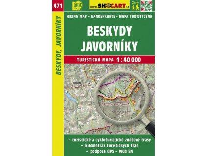 Beskydy, Javorníky - turistická mapa č. 471