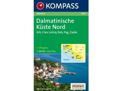 Dalmatinische Küste Nord, Dalmátské pobřeží sever (Kompass - 2901)