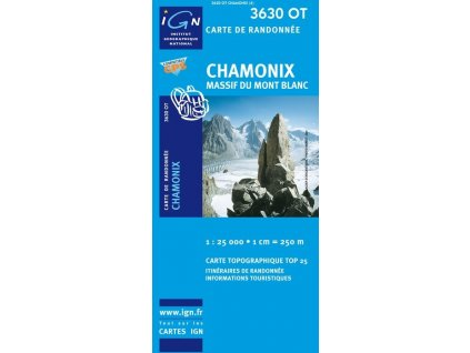 Chamonix, Massif Du Mont Blanc – turistická mapa (IGN 3630OT)