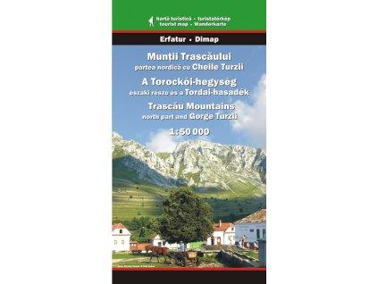 Trascau - severní část - turistická mapa