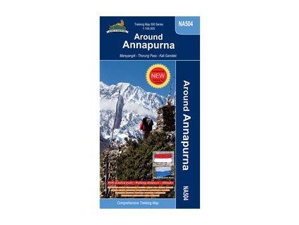Around Annapurna - trekingová mapa