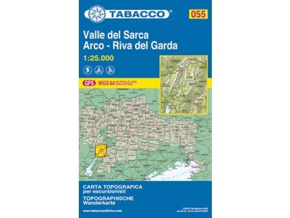 Valle del Sarca, Arco, Riva del Garda (Tabacco - 055)