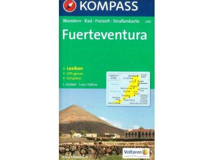 Fuerteventura, turistická mapa (Komapss, 240)