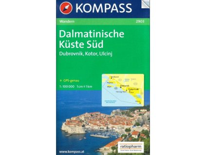 Dalmatinische Küste Süd, Dalmátské pobřeží jih (Kompass - 2903)