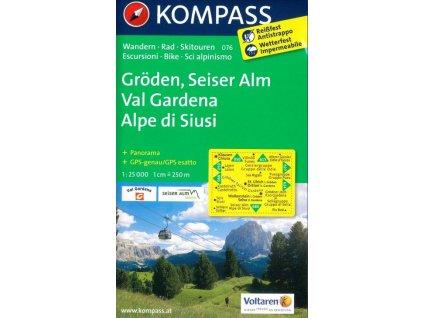 Gröden, Seiser Alm / Val Gardena, Alpe di Siusi  (Kompass - 076