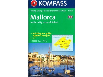 Mallorca, turistická mapa (Kompass 230)