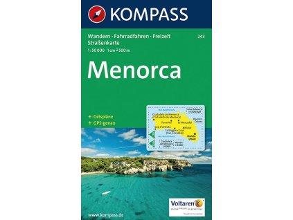 Menorca, turistická mapa (Kompass - 243)