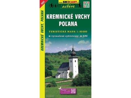 Kremnickévrchy,Poľana - turistická mapa (shocart č.1093)