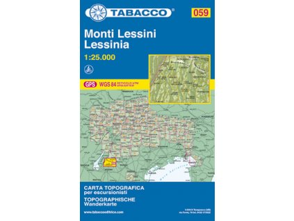 Monti Lessini, Lessinia (Tabacco - 059)
