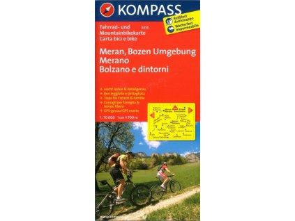 Meran, Bozen Umgebung (cyklomapa Kompass č. 3414)