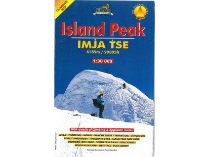 Island Peak - horolezecká mapa