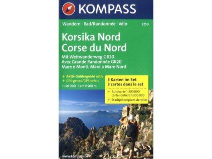 Korsika Nord, Korsika sever (set 3 map, Kompass 2250)