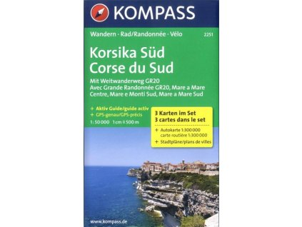 Korsika Süd, Korsika jih (set 3 map, Kompass 2251)