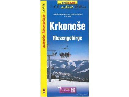 Krkonoše - zimní turistická a lyžařská mapa