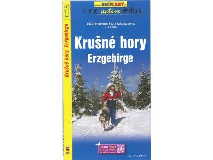 Krušné hory - zimní turistická a lyžařská mapa