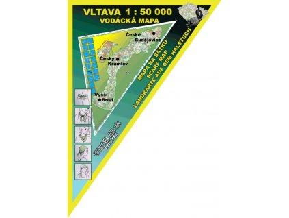 Vltava, vodácká mapa – mapa na šátku