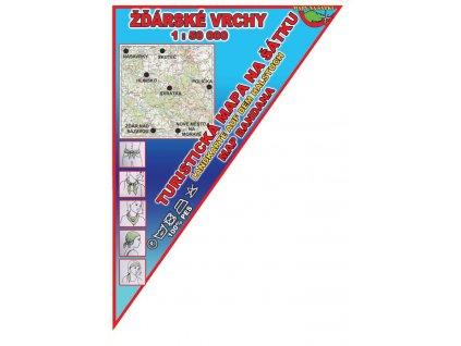 Žďárské vrchy - mapa na šátku