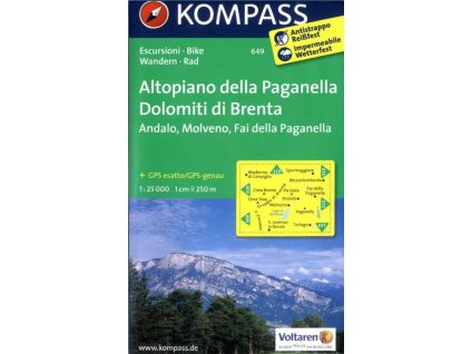 Altopiano della Paganella, Dolomiti di Brenta (Komapss - 649)