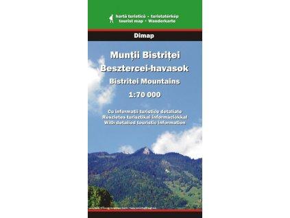 Muntii Bistritei, Bistrita - turistická mapa