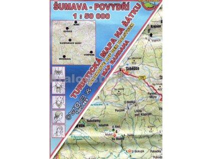 Šumava - Povydří - mapa na šátku
