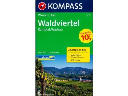 Waldviertel, Kamptal, Wachau (Kompass č.203)