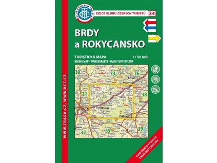 Brdy a Rokycansko -  mapa KČT č.34