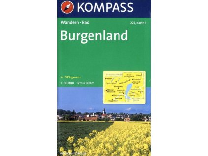 Burgenland, set 2 map (Kompass č. 227)