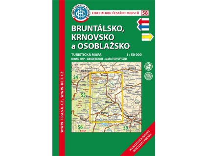 Bruntálsko -  Krnovsko a Osoblažsko -  mapa KČT č.58