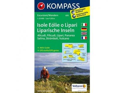 Liparische Inseln - Liparské ostrovy (Kompass - 693)