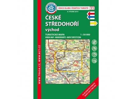 České středohoří -  východ -  mapa KČT č.11