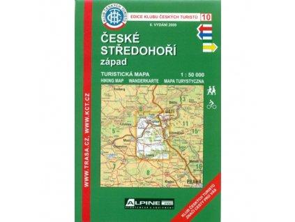 České středohoří -  západ -  mapa KČT č.10