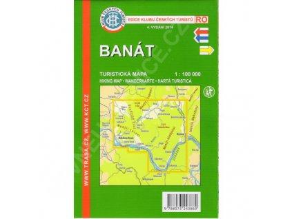 Banát - turistická mapa KČT
