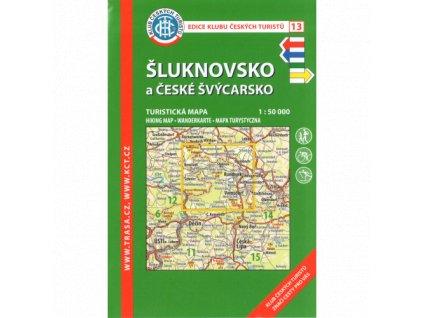 České Švýcarsko a Šluknovsko -  mapa KČT č.13