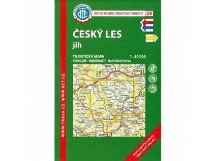 Český les -  jih -  mapa KČT č.29