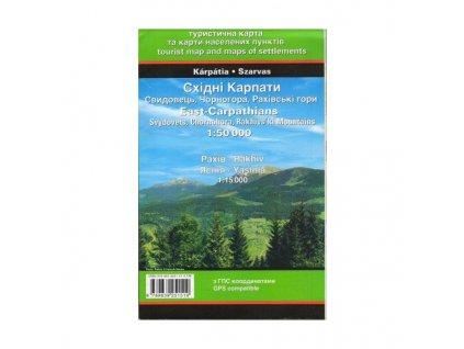 Východníkarpaty - Maramureš, Svidovec, Černá hora, Hoverla - turistická mapa